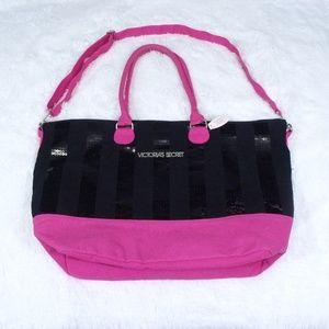 Victoria's Secret Sequin Weekender Tote Bag